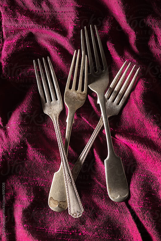 Arrangement of Antique Forks  by Jeff Wasserman for Stocksy United