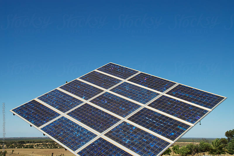 Solar Panel on a Farm by Adrian Young for Stocksy United