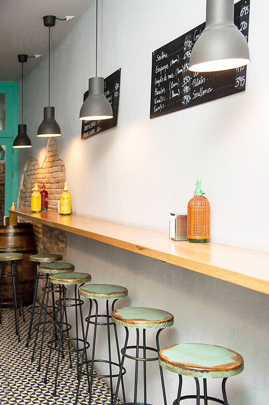 Interior of a tapas bar by Bisual Studio for Stocksy United