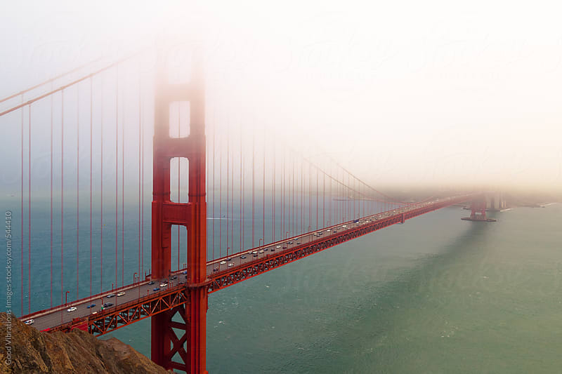 Golden Gate Bridge in the Fog by Good Vibrations Images for Stocksy United