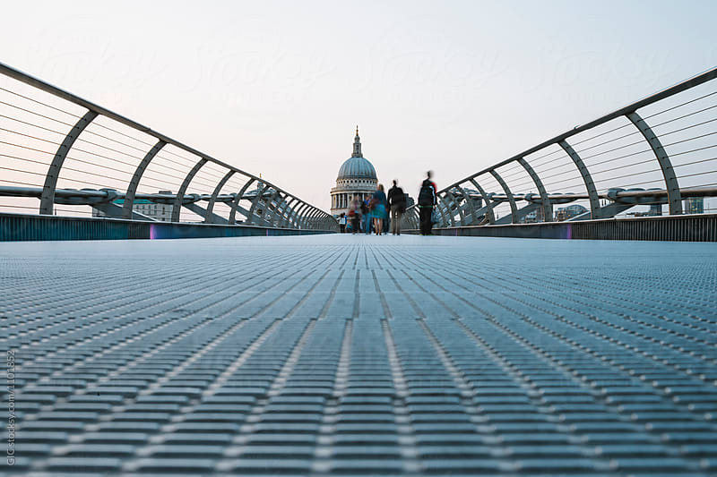 London from Millenium Bridge by GIC for Stocksy United