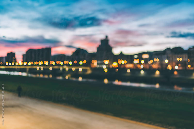 urban landscape at sunset by Javier Pardina for Stocksy United