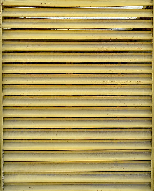 Metal yellow vent details by Gabriel Diaz for Stocksy United
