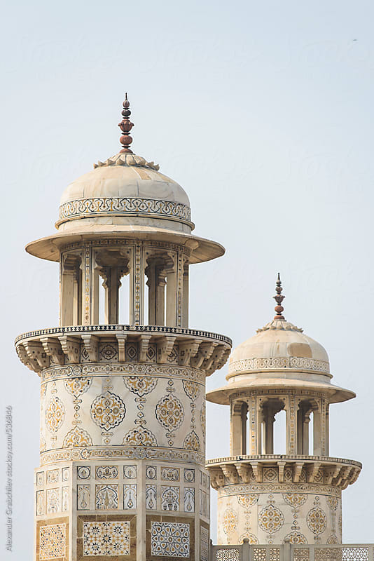 White Marble Minarets Of Baby Taj by Alexander Grabchilev for Stocksy United