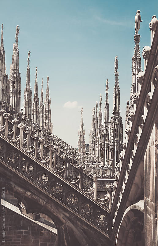 Top of the duomo in milan by Leander Nardin for Stocksy United