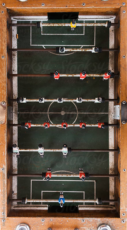 Table Football playing field by Urs Siedentop & Co for Stocksy United
