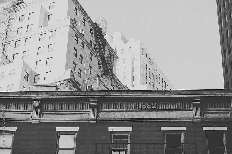 Old building and architecture in downtown Manhattan (NYC) by Lauren Naefe for Stocksy United