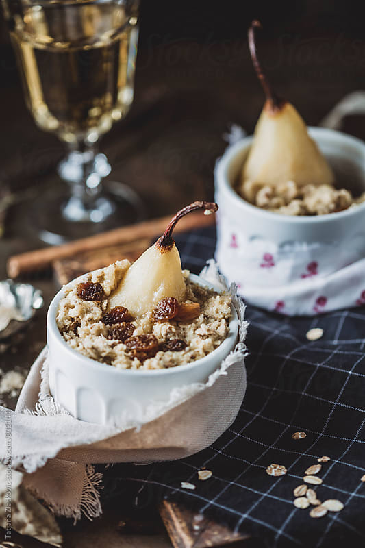 Pear crumble by Tatjana Zlatkovic for Stocksy United