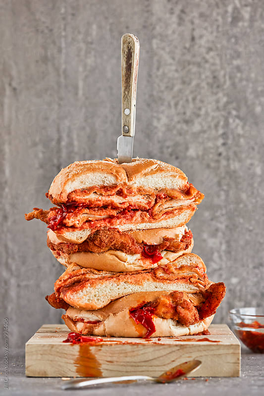 Italian Chicken Cutlet Sandwiches with Hot Peppers by Jill Chen for Stocksy United