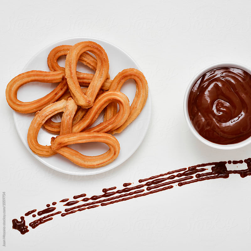 chocolate con churros by juan moyano for Stocksy United