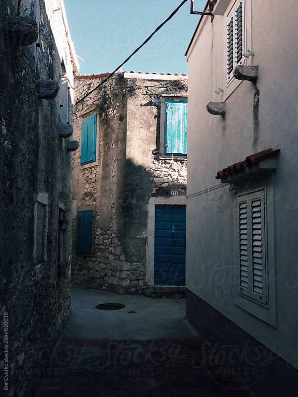 Street in small village near sea by Bor Cvetko for Stocksy United
