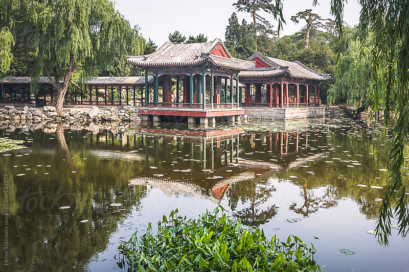 Pavilions over a Lake in Beijing, China by Helen Sotiriadis for Stocksy United