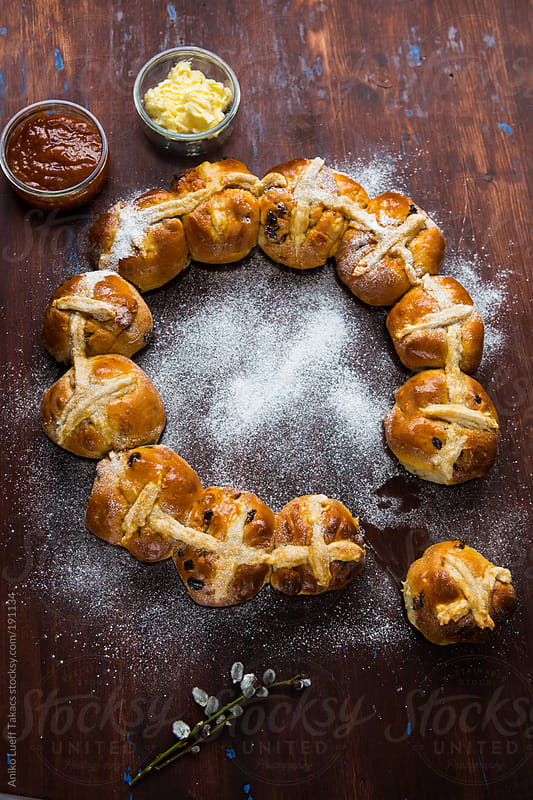 Hot Cross Buns  by Aniko Lueff Takacs for Stocksy United