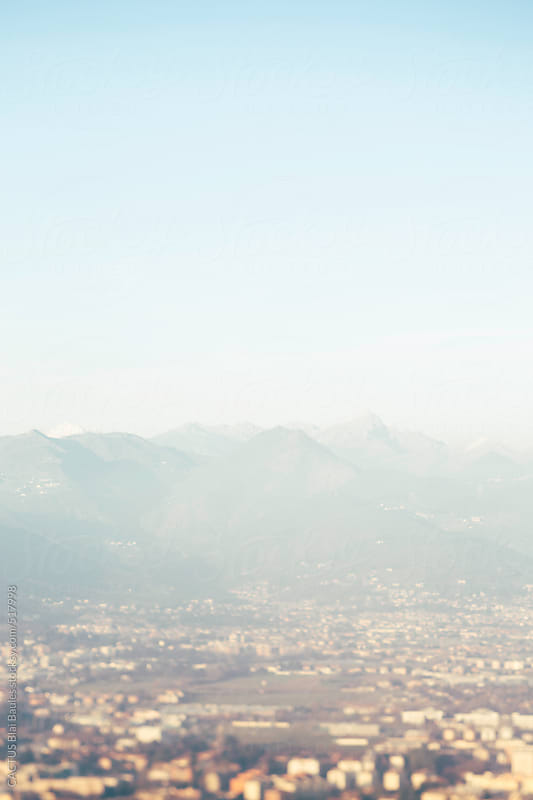 Aerial view of Northern Italy by CACTUS Blai Baules for Stocksy United