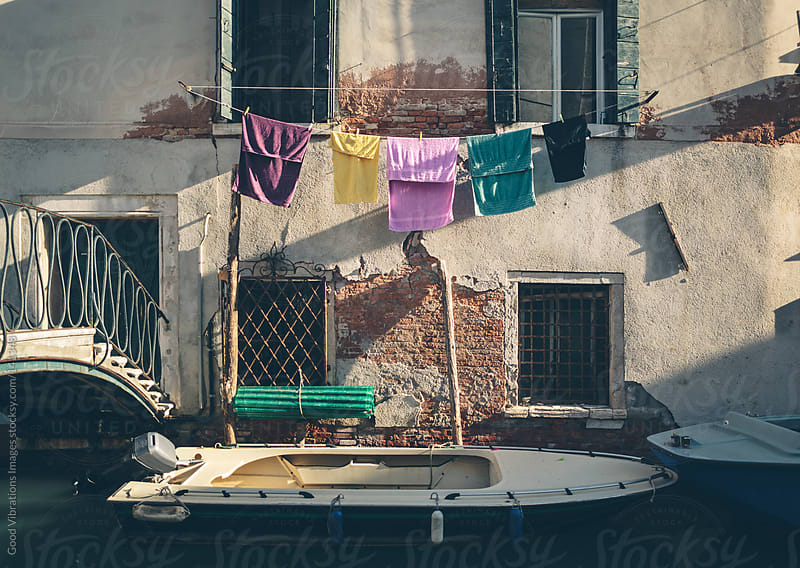 Venetian clothesline by Good Vibrations Images for Stocksy United