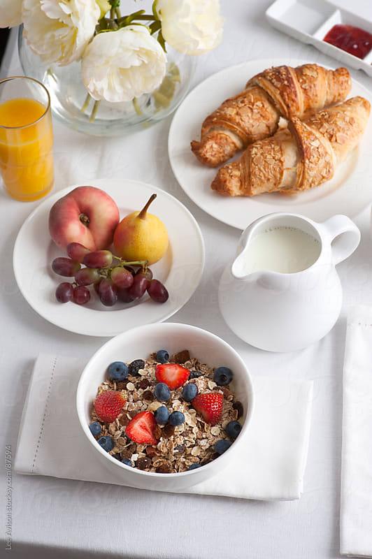 healthy breakfast by Lee Avison for Stocksy United
