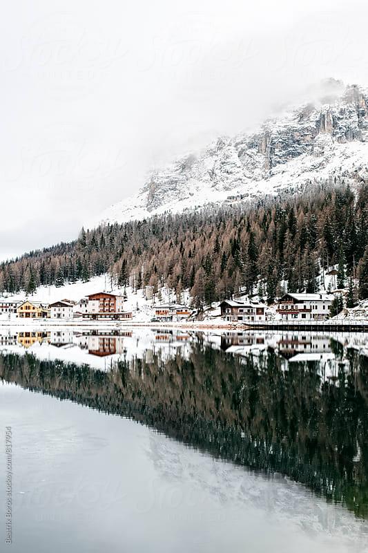 Lago di Misurina in the Winter by Beatrix Boros for Stocksy United