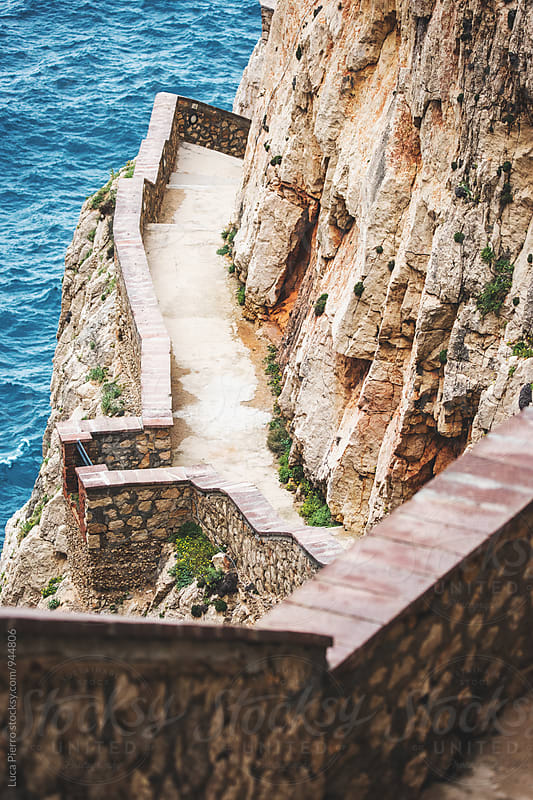 Steps over the cliff by Luca Pierro for Stocksy United