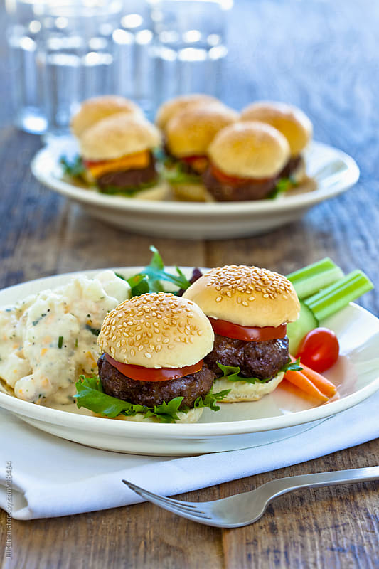 Mini Hamburgers by Jill Chen for Stocksy United