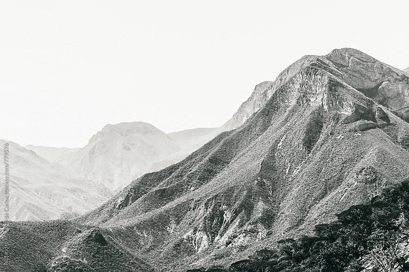 Mountain landscape in black and white by Alejandro Moreno de Carlos for Stocksy United