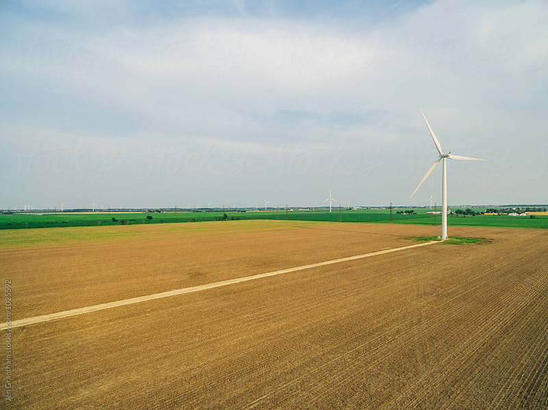 Wind Turbine on Farmland
