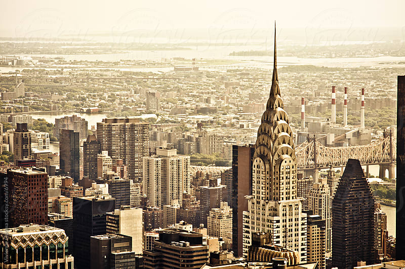 The New York City Skyline and the Chrysler Building by Vivienne Gucwa for Stocksy United