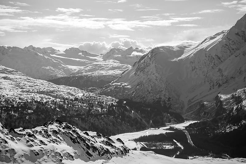 Thompson Pass b and w 1 by Jake Elko for Stocksy United