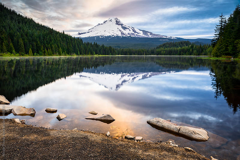 Trillium Lake by Nicole Young for Stocksy United