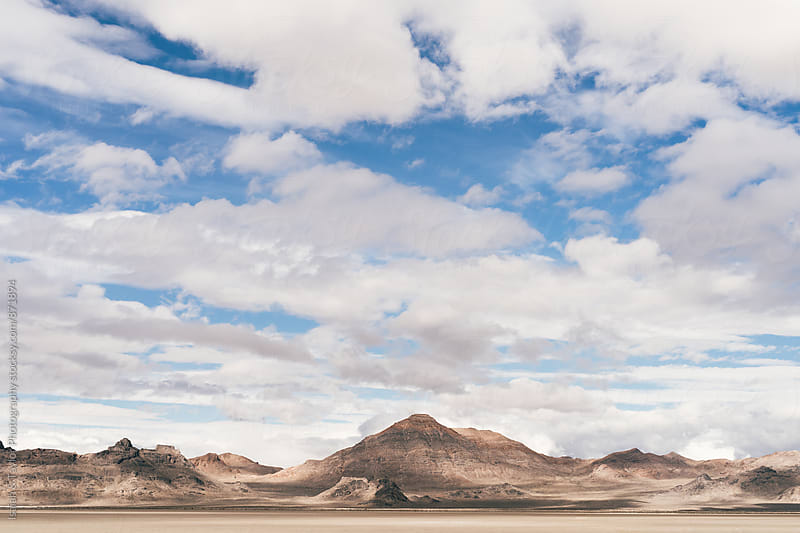 Desert mountains and blue sky by Isaiah & Taylor Photography for Stocksy United