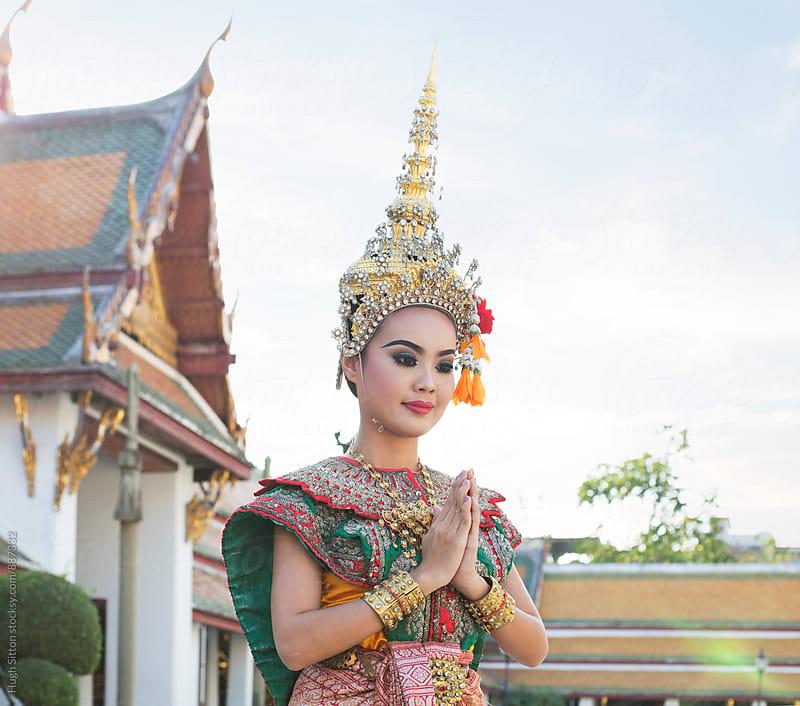 Traditional Thai female Dancer. Bangkok. Thailand. by Hugh Sitton for Stocksy United