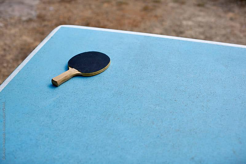 Table tennis racket by Bratislav Nadezdic for Stocksy United