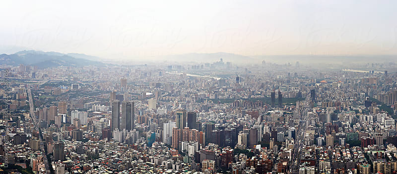 Taipei city panorama by Daxiao Productions for Stocksy United