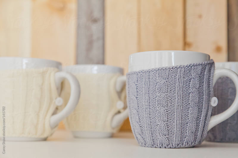 Detail of coffee mugs by Carey Shaw for Stocksy United