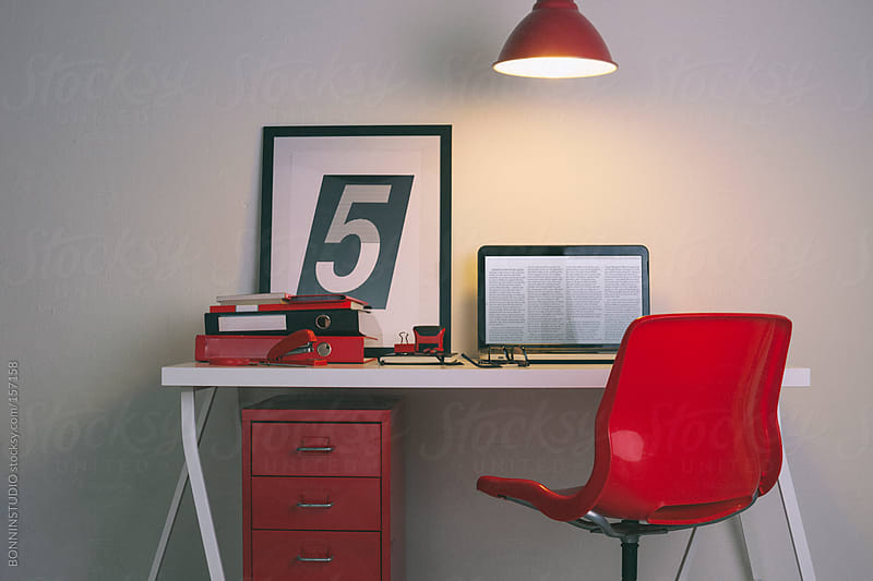 Cute home office desk.  by BONNINSTUDIO for Stocksy United