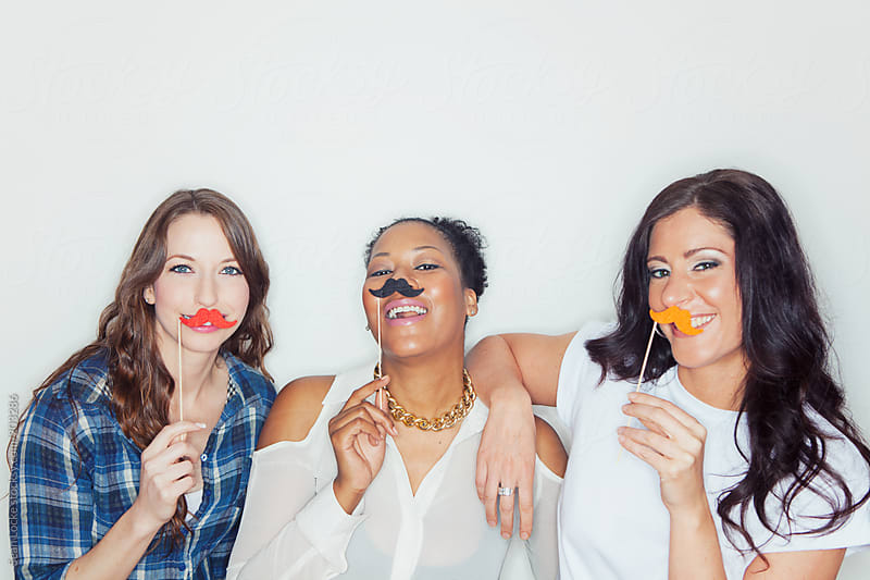 Portraits: Group Of Friends With Moustaches by Sean Locke for Stocksy United