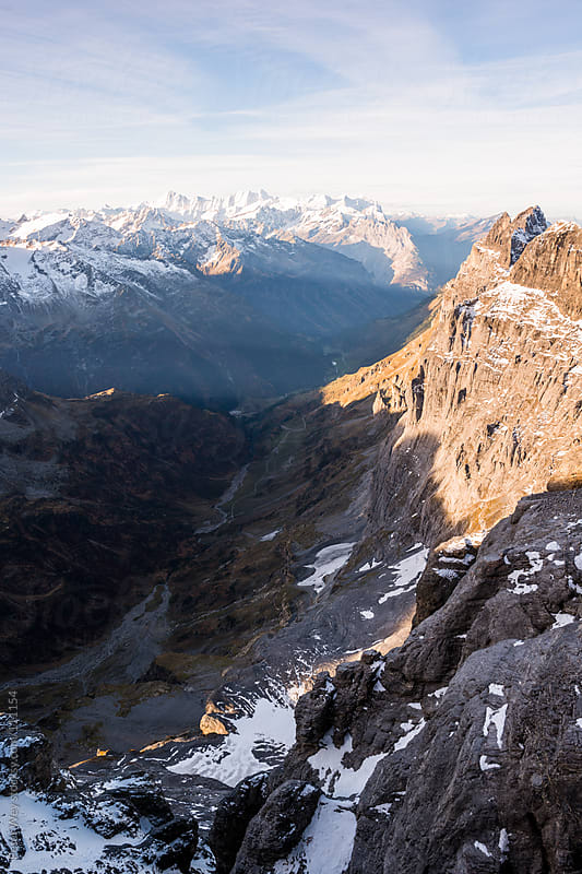 Panorama from Titlis by Peter Wey for Stocksy United