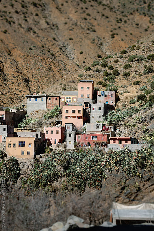 Berber village in the high atlas mountains in Morocco. by Darren Muir for Stocksy United