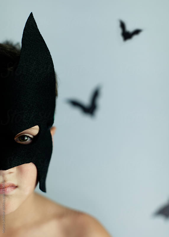Homemade masked hero by Marta Locklear for Stocksy United