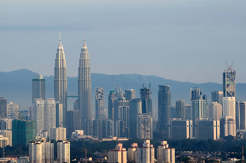 Kuala Lumpur in morning light by Alice Nerr for Stocksy United