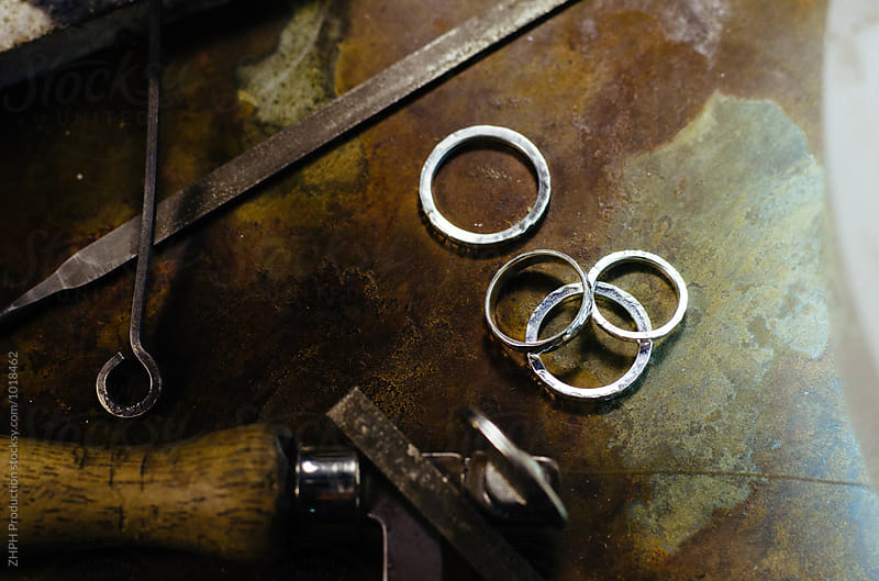 Making jewelry by Artem Zhushman for Stocksy United