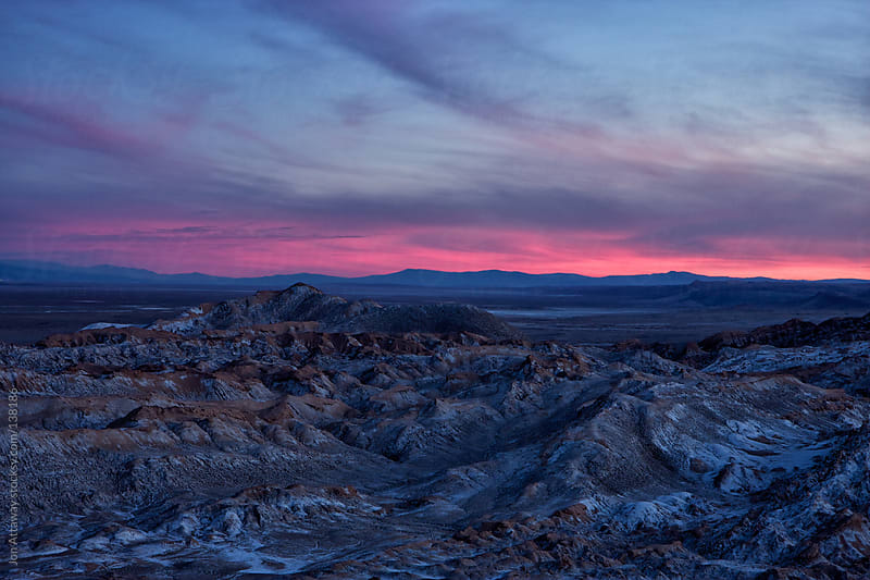 Dusk over the Atacama  by Jon Attaway for Stocksy United