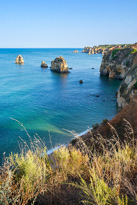 Cliffs in Lagos, Portugal by ACALU Studio for Stocksy United