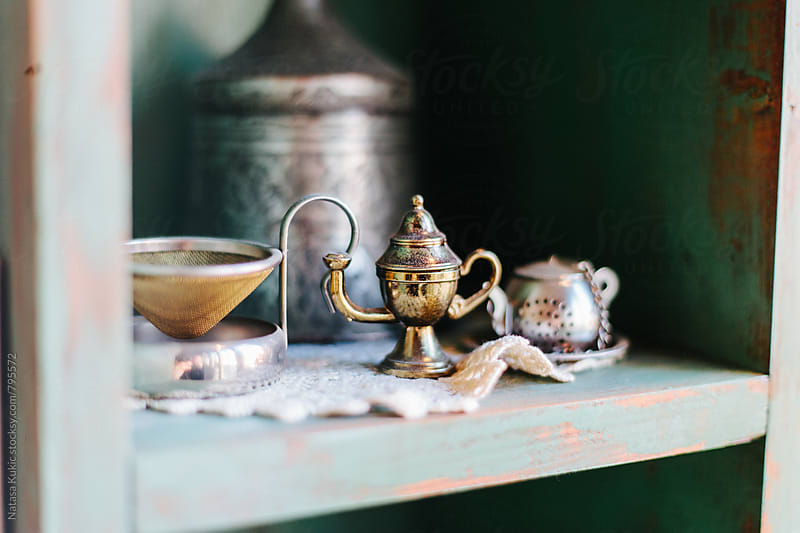 Details from the tea house by Natasa Kukic for Stocksy United