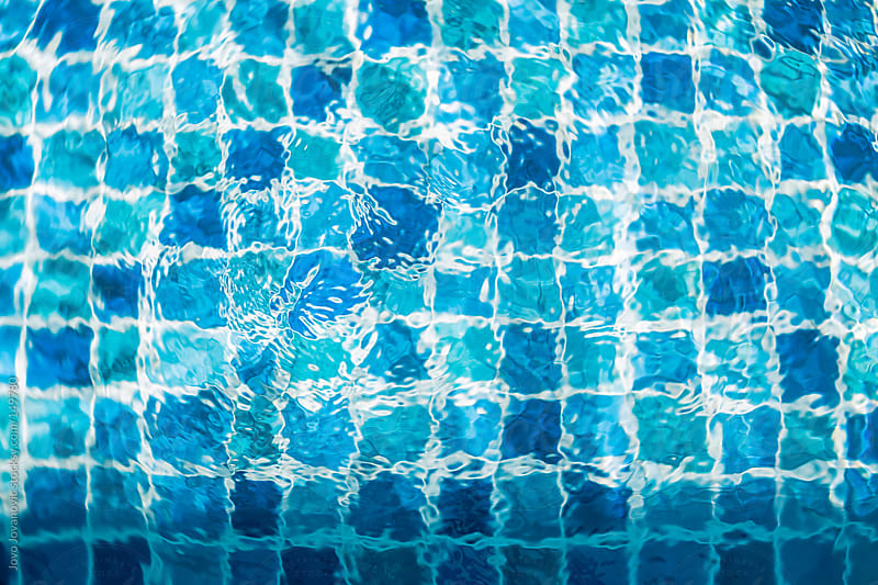 Big blue - swimming pool by Jovo Jovanovic for Stocksy United