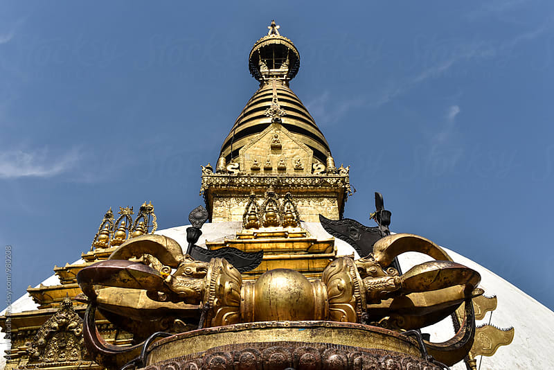 Swayambhunath Stupa, Kathmandu, Nepal by Bisual Studio for Stocksy United