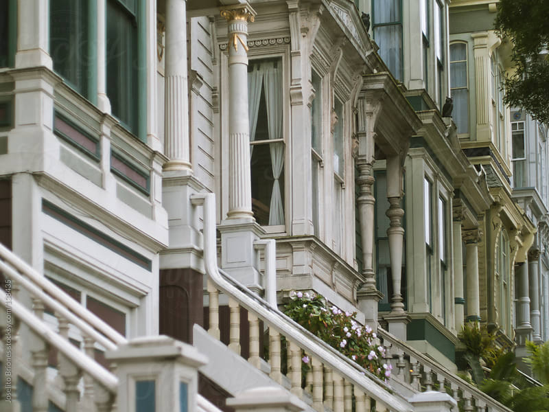 Typical Row of Houses in San Francisco by Joselito Briones for Stocksy United