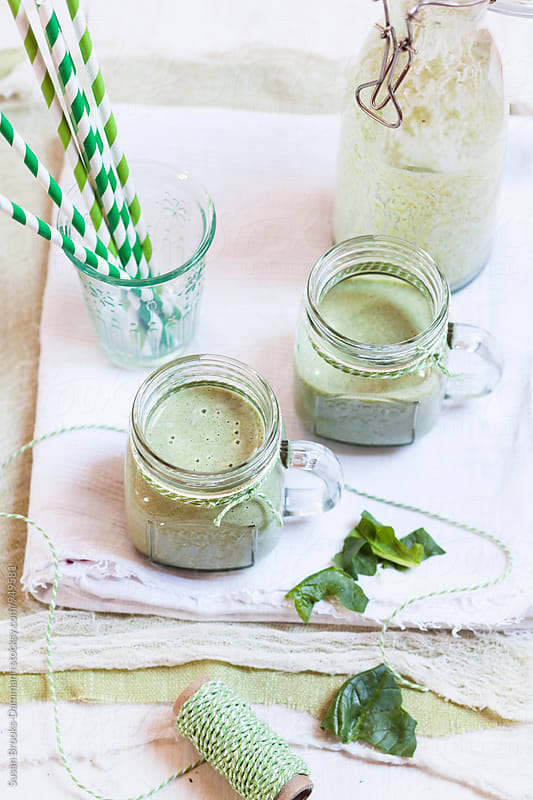 Green smoothies by Susan Brooks-Dammann for Stocksy United