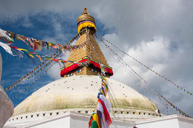 Boudhanath Stupa. by Shikhar Bhattarai for Stocksy United