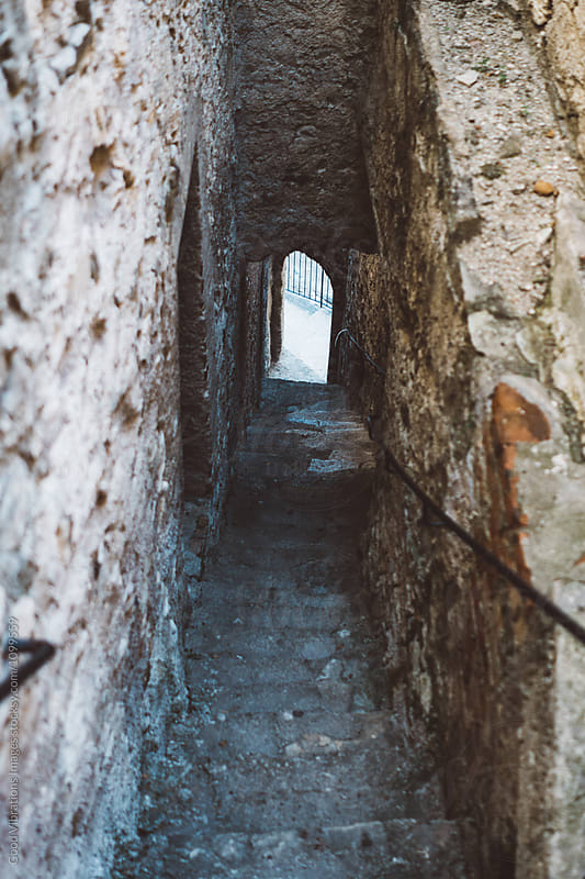 Medieval steps in a tuscan village by Good Vibrations Images for Stocksy United