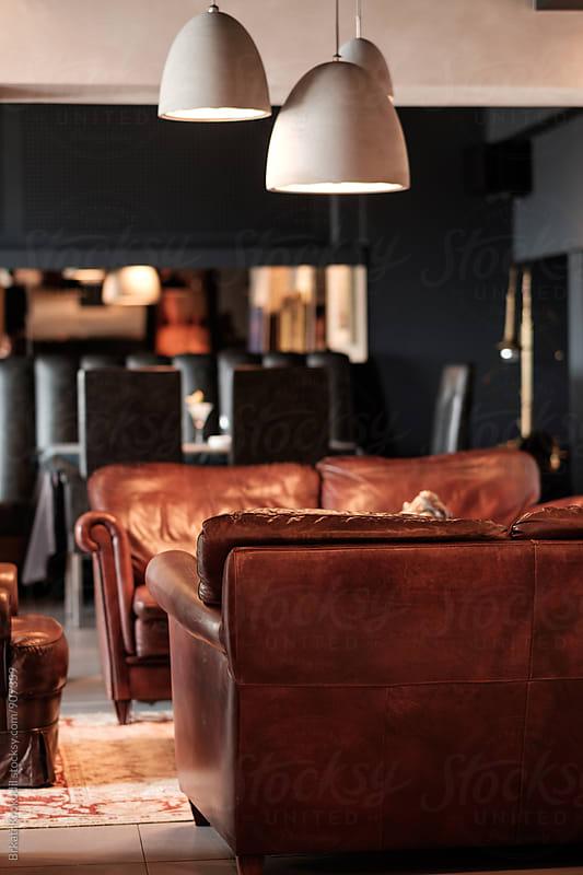 Interior of a Modern Restaurant by Branislav Jovanović for Stocksy United